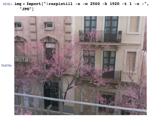 Using Import to enlarge a RaspiCam photo