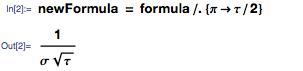 Using ReplaceAll in formulas