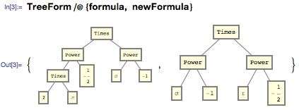 Using a TreeForm to look at two different expressions