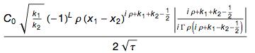 Formula with Tau instead