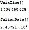 UnixTime and JulianDate