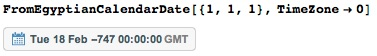 Verifying formula by using calendar epoch