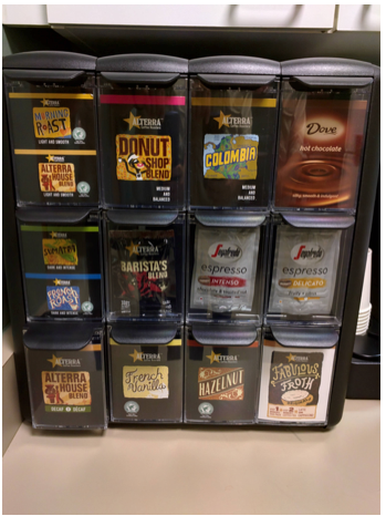 Coffee flavor display