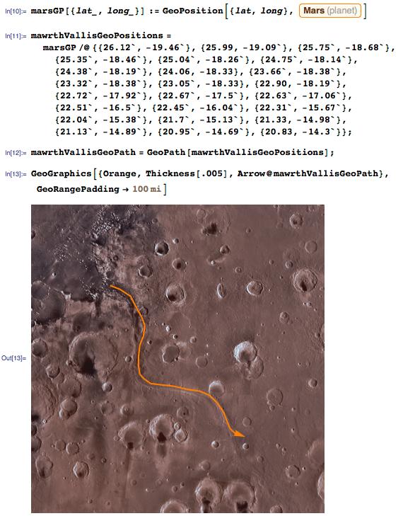 Creating a GeoPath through Mawrth Vallis