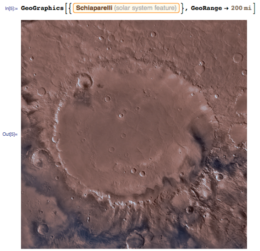 Schiaparelli Crater