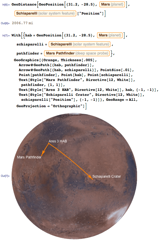 Distance to get to the Mars Pathfinder