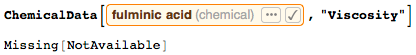 ChemicalData returns chemical properties not measured or publicly available