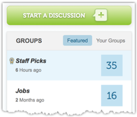 Sidebar with Staff Picks and Jobs