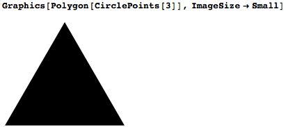 Using CirclePoints to draw a single polygon