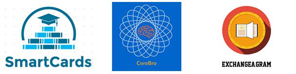 SmartCards, CereBro, Exchangeagram projects from HackingEDU