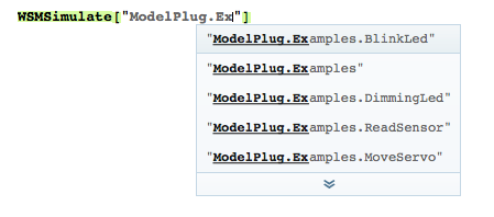 Completion of model names in the SystemModeler Link package