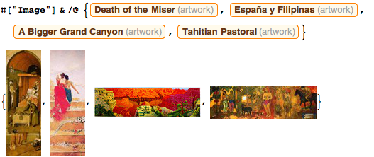 Examples of wide and tall paintings