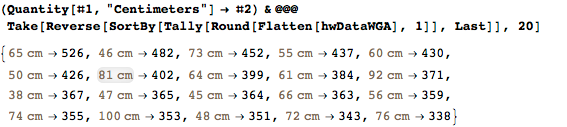 Explicit numerical values of the common-length values