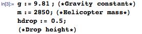 Setting values for determining velocity