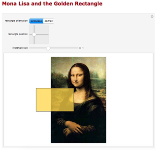 Mona Lisa and the Golden Rectangle