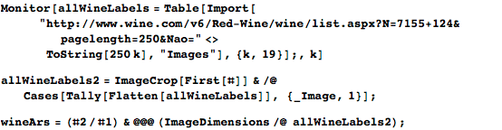 Red wine labels from wine.com