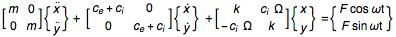 Equation of motion in matrix form