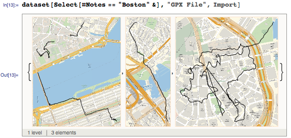 Importing GPX files with note Boston
