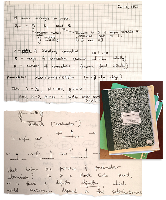 Some of my early work on neural networks--from 1983...