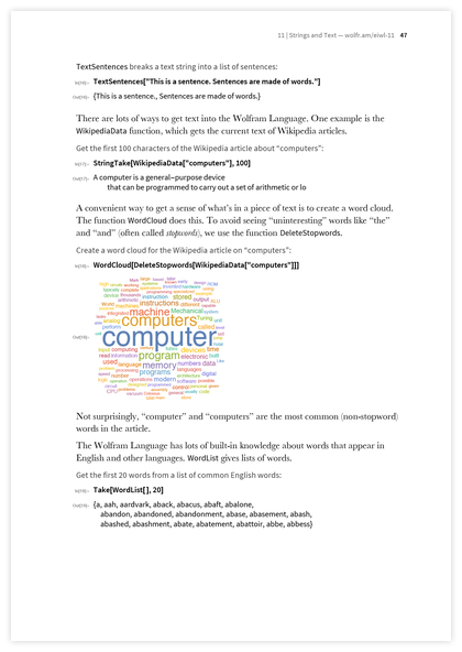 Page 47 of An Elementary Introduction to the Wolfram Language