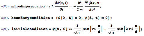 Schrödinger equation and conditions