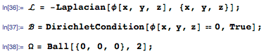 Finding the nine smallest eigenvalues and eigenfunctions