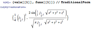 Eigenvalues are expressed in terms of BesselJZero