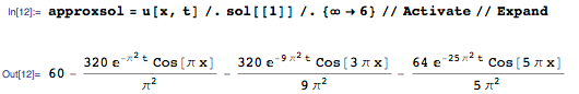 Extracting a few terms for the Inactive sum to obtain an approximate solution