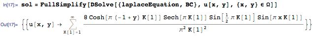 The Dirichlet problem can be solved using the elegant region notation for DSolve