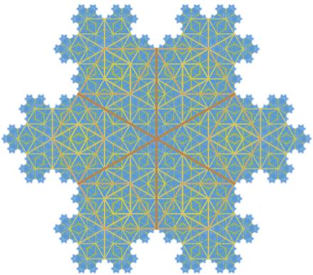 Intricate Koch snowflake