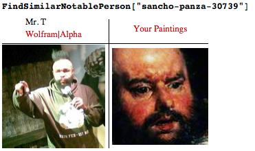 Mr. T and Sancho Panza