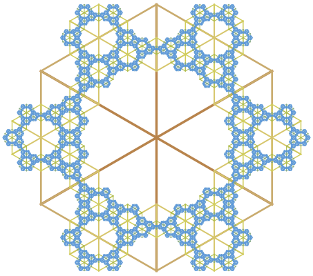 Snowflake with 6-fold rotational symmetry