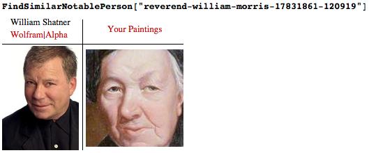 William Shatner and Reverend William Morris