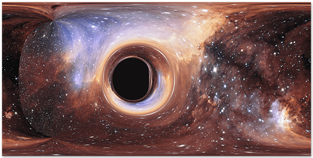 Gravitational lensing of the Prawn Nebula by a black hole