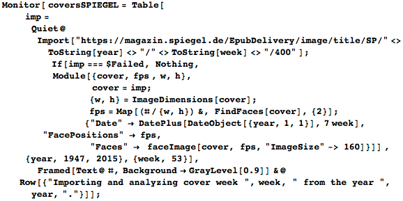 Downloading covers and extracting faces from SPIEGEL