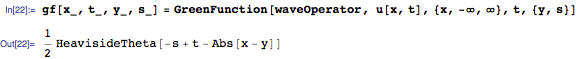 Finding Green's function for the wave operator