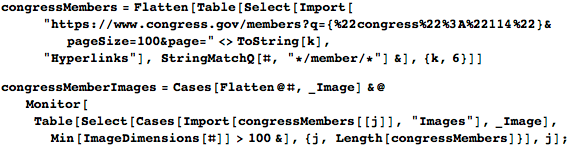 Importing photos of members of Congress