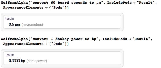 Converting humorous units of measurement