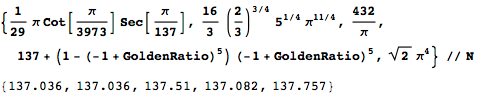 Conjectured exact forms of the fine-structure constant