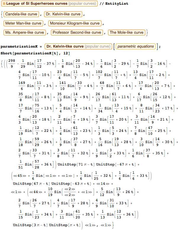 Purely trigonometric parametrization of Dr. Kelvin