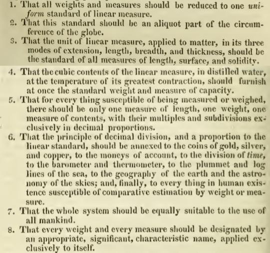 Excerpt from John Quincy Adams' Report upon Weights and Measures