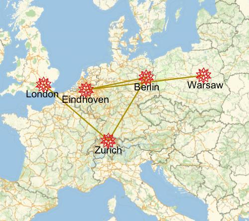 Wolfram European Technology Tour cities