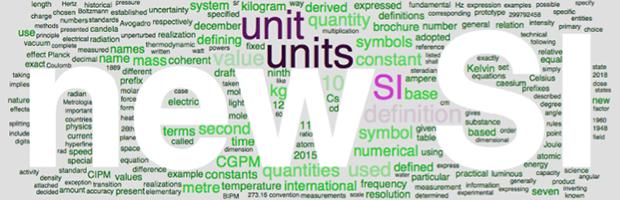Word cloud summary of new SI brochure