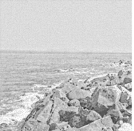Stippling of beach photo