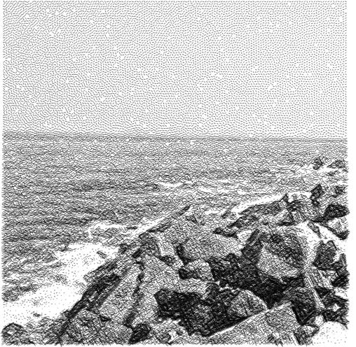 Hatching of beach photo