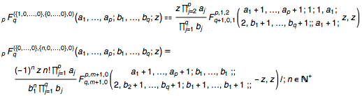 First derivatives of Hypergeometric pFq with respect to parameters in terms of the Kampé de Fériet function