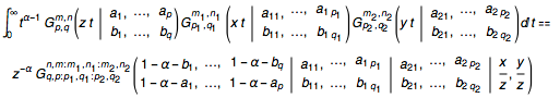 Mellin transform of the product of three Meijer G-functions
