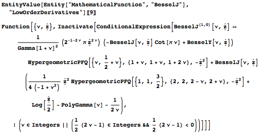 Obtaining derivatives with respect to parameters in the Wolfram Language