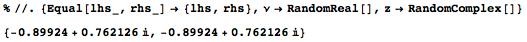 Numerical verification of derivative formula using random values for argument and parameter