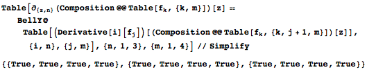 Verifying the nth-order derivative of the composition of m functions for arbitrary m and n